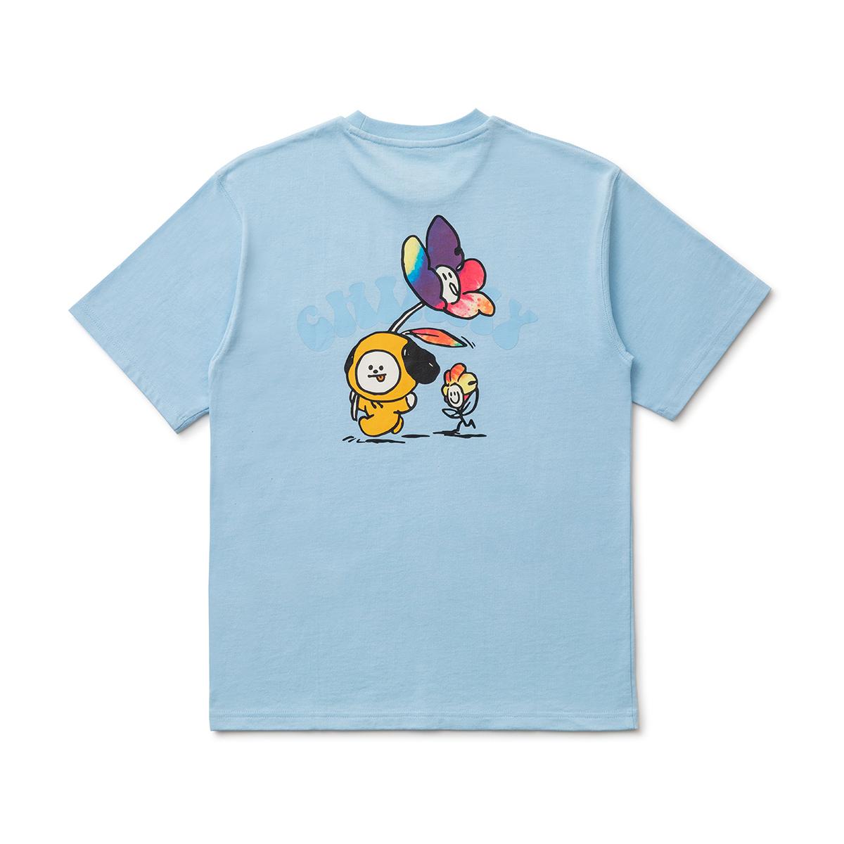フラワー半袖Tシャツ CHIMMY BT21