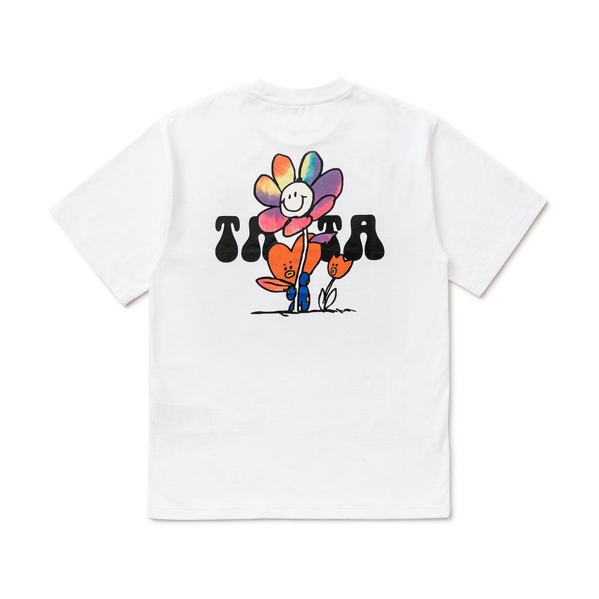 フラワー半袖Tシャツ TATA BT21