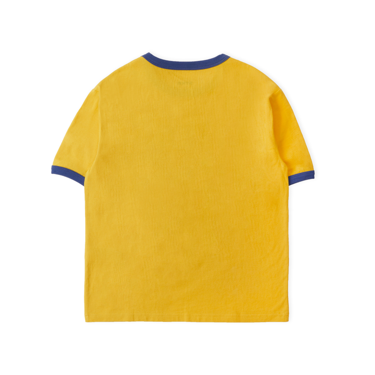 コントラスト半袖Tシャツ ブラウン